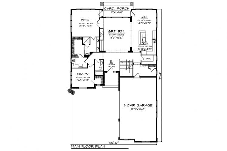 Mediterranean House Plan -  41535 - 1st Floor Plan