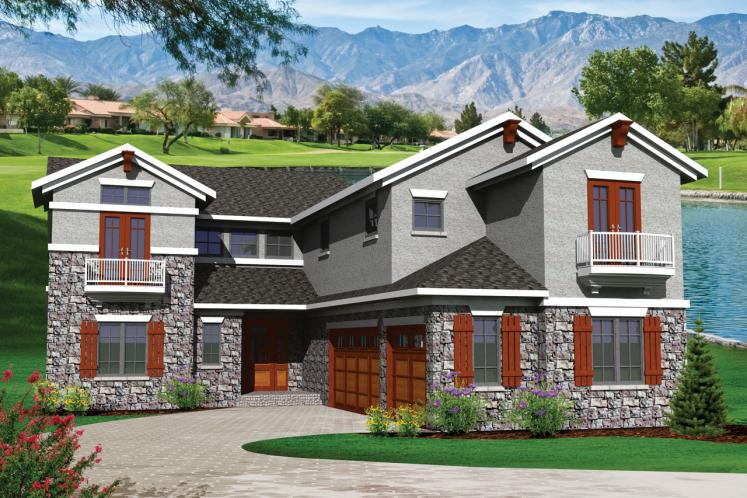 Tuscan House Plan -  41535 - Front Exterior