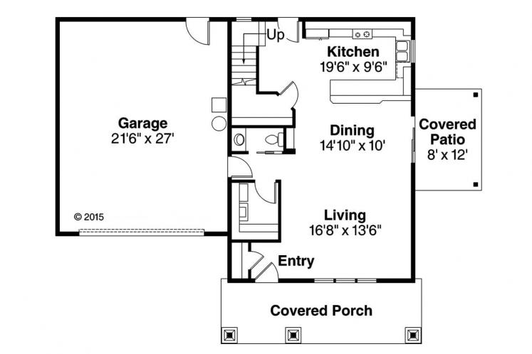 Country House Plan - Molalla 41616 - 1st Floor Plan