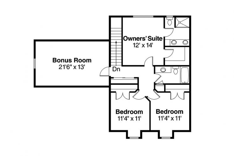 Traditional House Plan - Molalla 41616 - 2nd Floor Plan