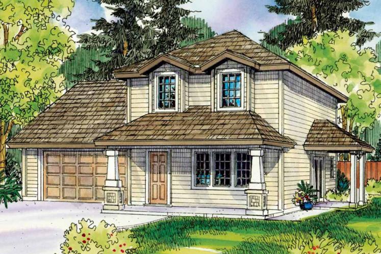Cottage House Plan - Molalla 41616 - Front Exterior