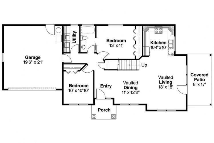 Cape Cod House Plan - Colebrook 41628 - 1st Floor Plan