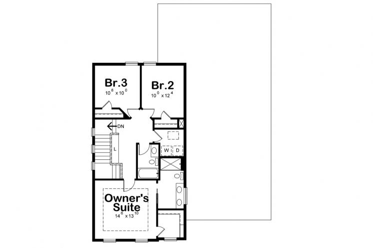 Country House Plan - Westerly Cottage 41646 - 2nd Floor Plan