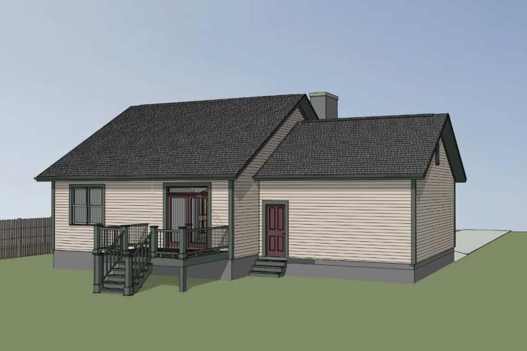 Bungalow House Plan -  41731 - Left Exterior