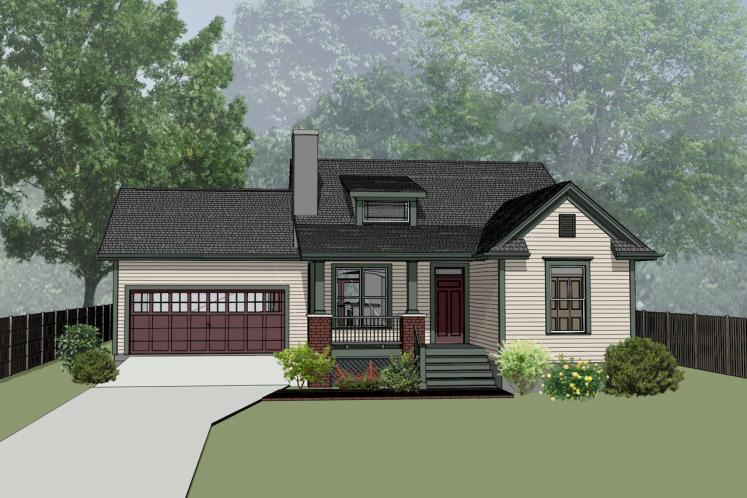 Cottage House Plan -  41731 - Front Exterior