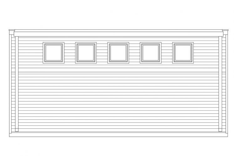 Traditional Garage Plan -  41803 - Left Exterior