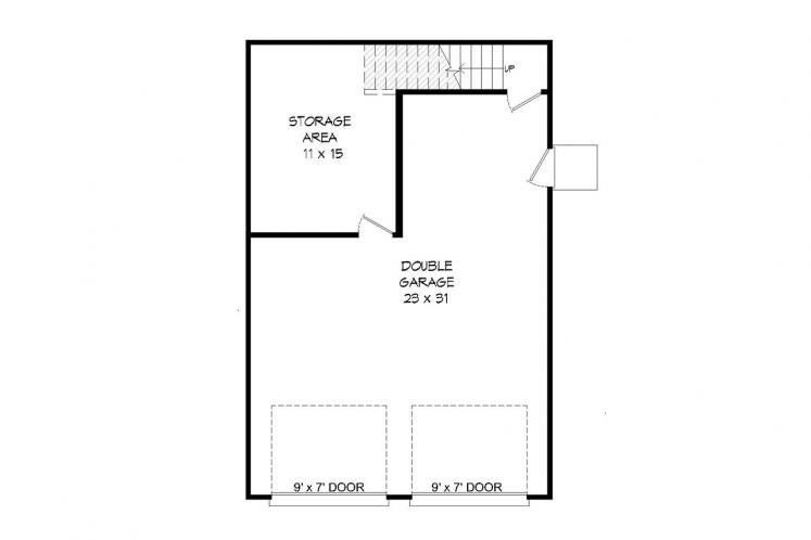Traditional Garage Plan -  41803 - 1st Floor Plan
