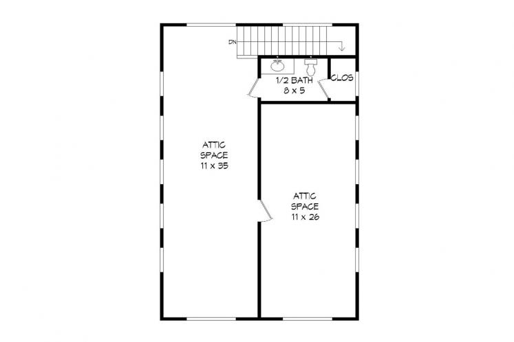 Craftsman Garage Plan -  41803 - 2nd Floor Plan