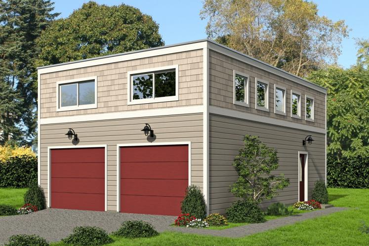 Traditional Garage Plan -  41803 - Front Exterior