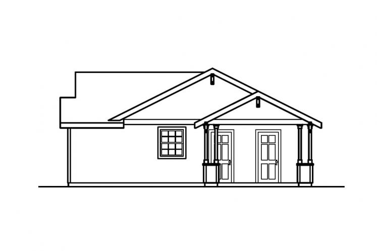 Traditional House Plan - Mattson 41822 - Right Exterior