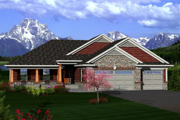 Craftsman House Plan -  41933 - Front Exterior