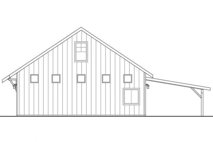 Traditional Garage Plan -  41957 - Right Exterior