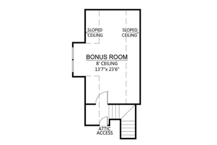 Southern House Plan - Bocage  41973 - 2nd Floor Plan