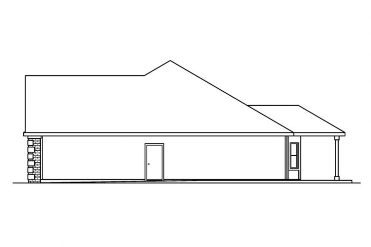 Traditional House Plan - Davidson 41985 - Right Exterior