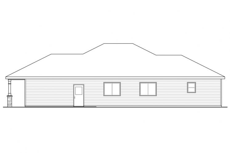 Cottage House Plan - Pine Creek 42006 - Right Exterior