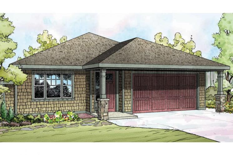 Cottage House Plan - Pine Creek 42006 - Front Exterior