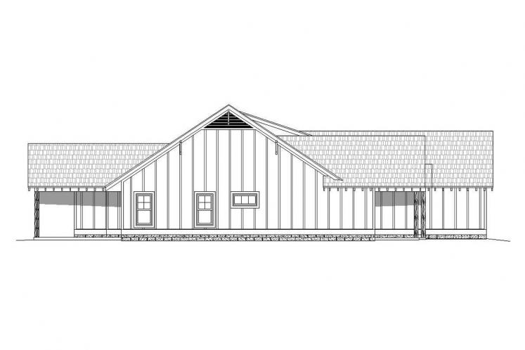 Ranch House Plan -  42021 - Left Exterior