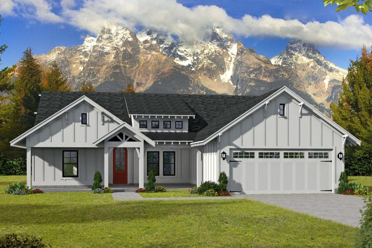 Modern House Plan -  42021 - Front Exterior