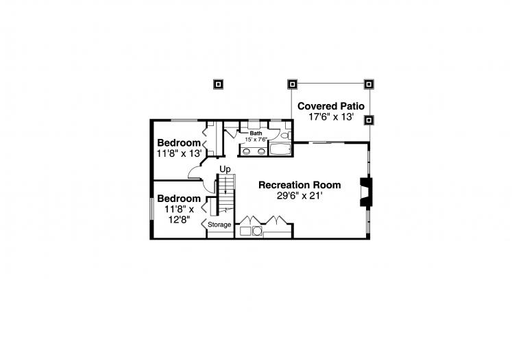 Traditional House Plan - Pine Valley 42118 - Basement Floor Plan
