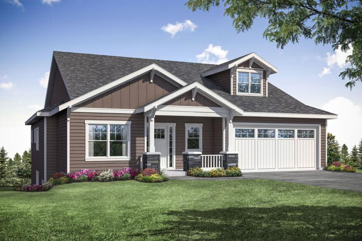Craftsman House Plan - Pine Valley 42118 - Front Exterior