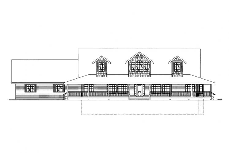 Country House Plan -  42210 - Front Exterior