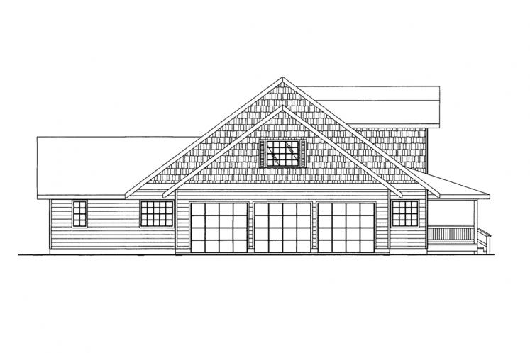 Lodge Style House Plan -  42210 - Left Exterior