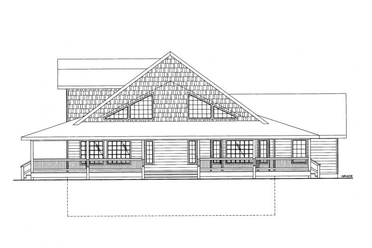 Country House Plan -  42210 - Right Exterior