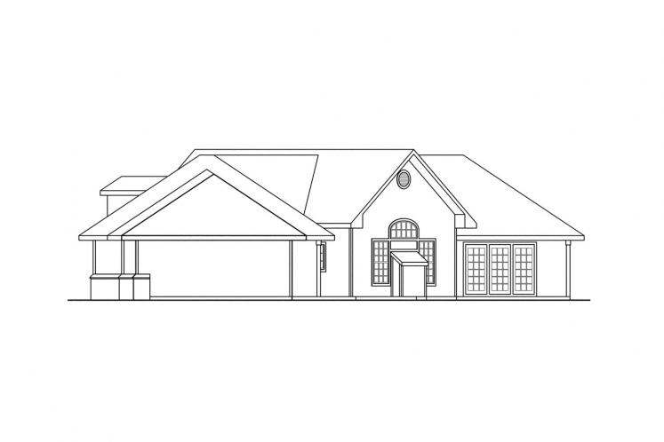 Traditional House Plan - Hawthorne 42212 - Right Exterior