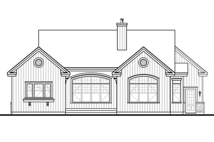 Ranch House Plan - Oakdale 42377 - Rear Exterior