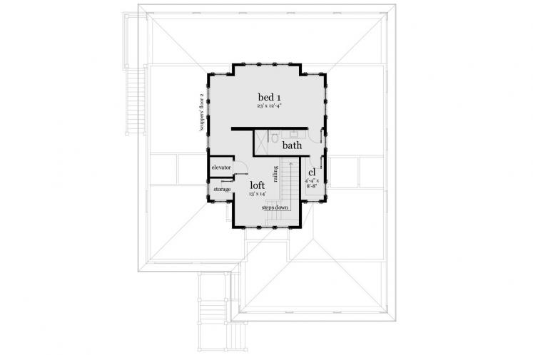 Bungalow House Plan - Scuppers 42441 - 2nd Floor Plan