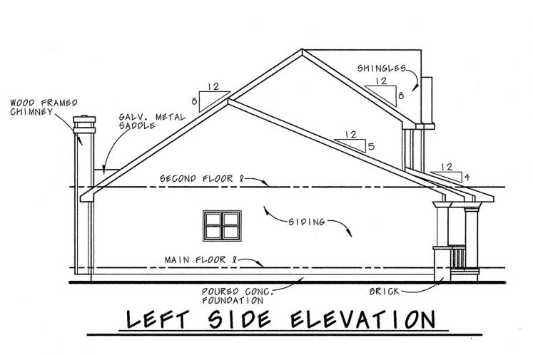 Cottage House Plan - Watson 42463 - Left Exterior
