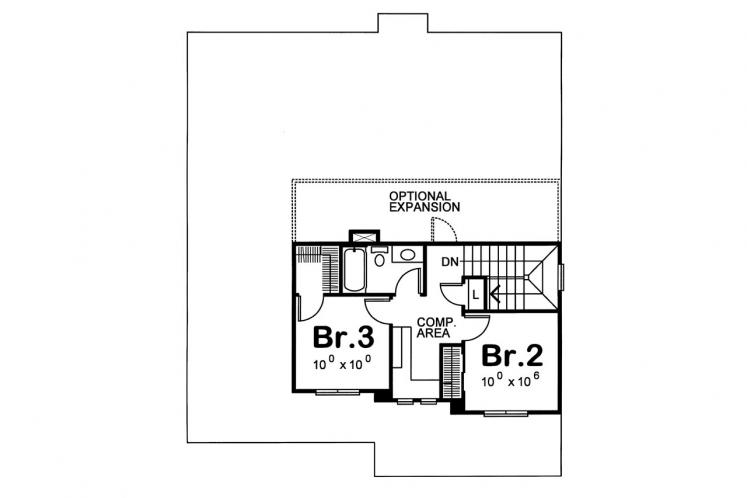 Traditional House Plan - Watson 42463 - 2nd Floor Plan