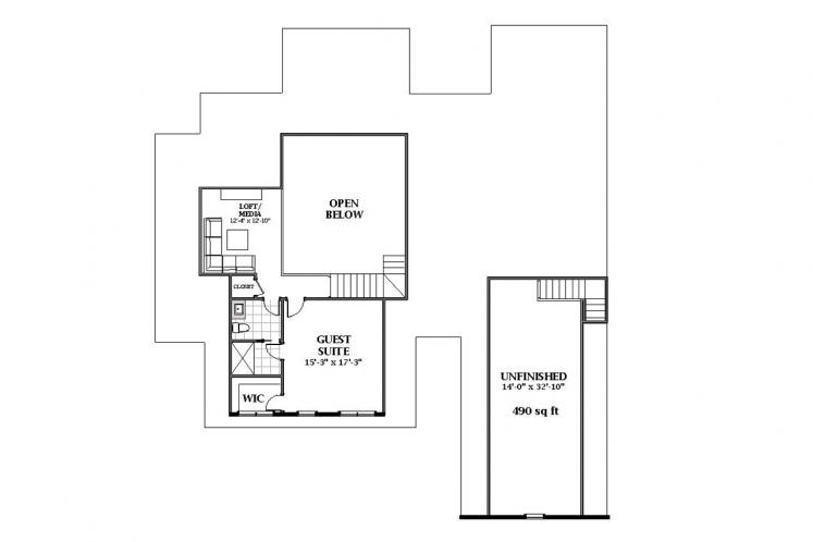 Country House Plan - Oakley 42478 - 2nd Floor Plan