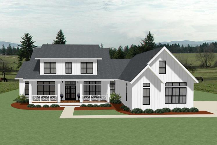 Country House Plan - Oakley 42478 - Front Exterior