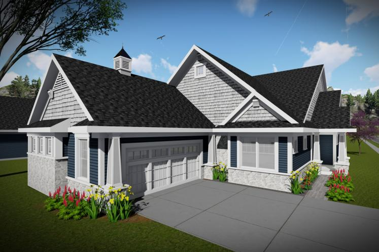 Ranch House Plan -  42556 - Left Exterior