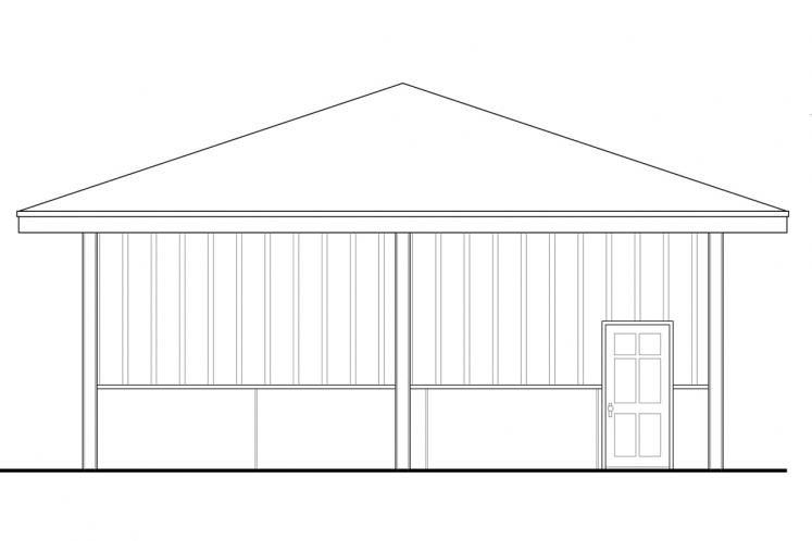 Traditional Garage Plan -  42602 - Left Exterior