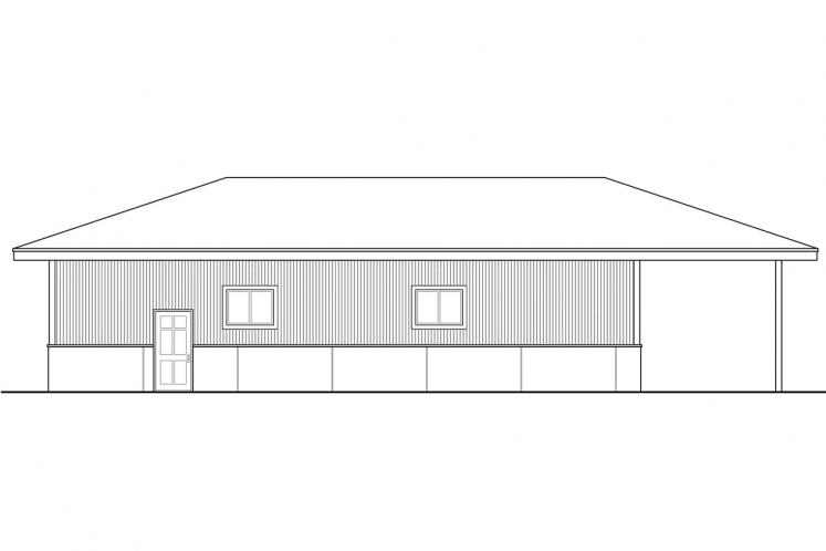 Prairie Garage Plan -  42602 - Rear Exterior