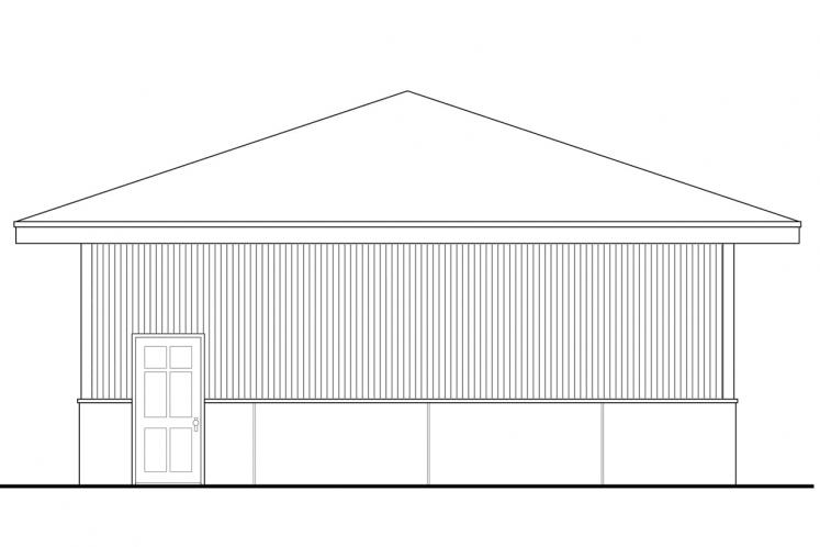 Prairie Garage Plan -  42602 - Right Exterior