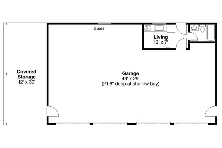 Traditional Garage Plan -  42602 - 1st Floor Plan