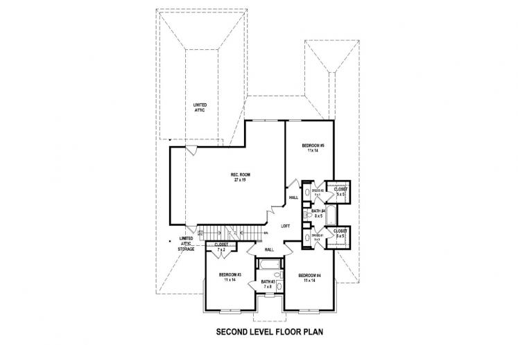 Southern House Plan -  42753 - 2nd Floor Plan