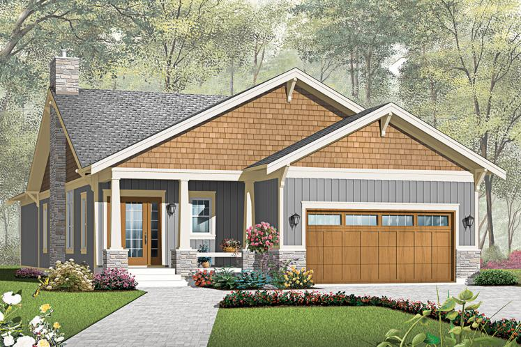 Craftsman House Plan - Westbrook 42806 - Front Exterior
