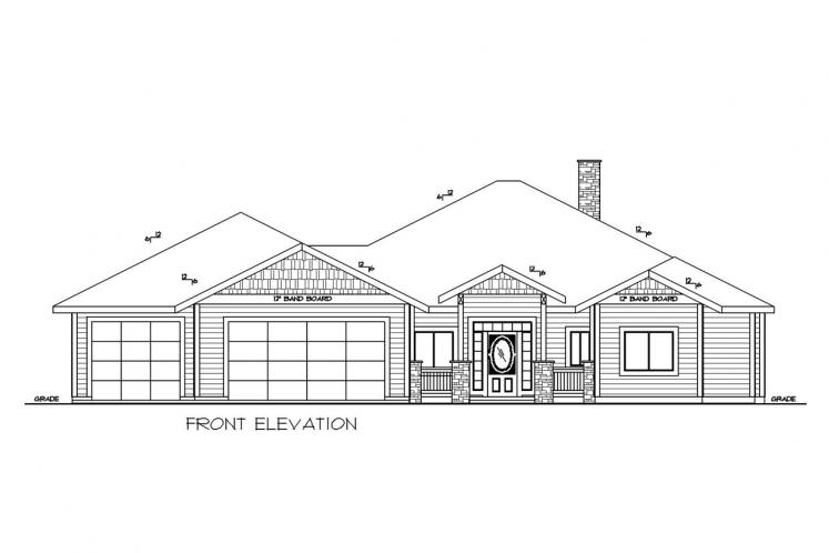 Craftsman House Plan -  42862 - Front Exterior