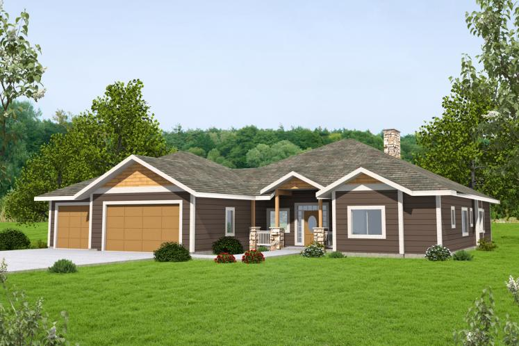 Traditional House Plan -  42862 - Front Exterior