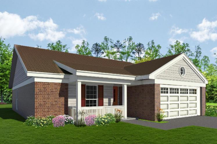 Traditional House Plan -  42880 - Front Exterior