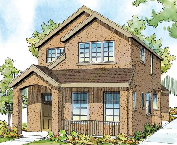 Contemporary House Plan - Montrose 42994 - Front Exterior