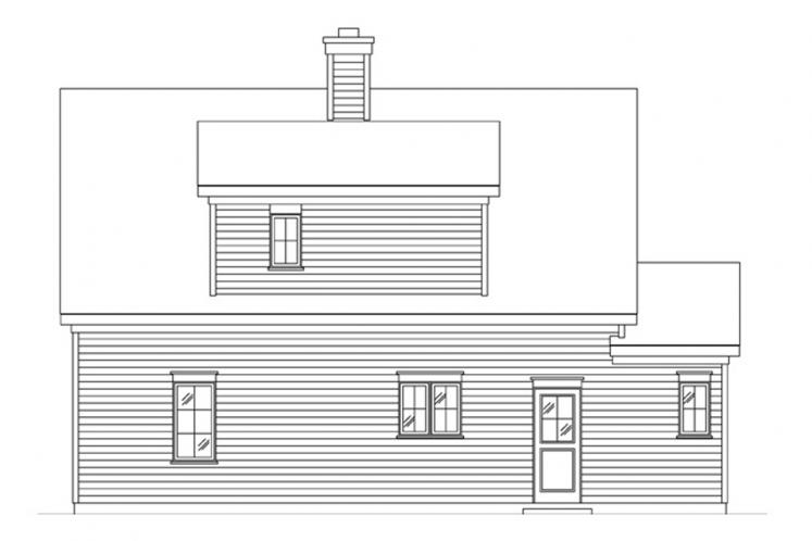 Colonial House Plan -  43038 - Rear Exterior