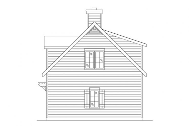 Colonial House Plan -  43038 - Right Exterior