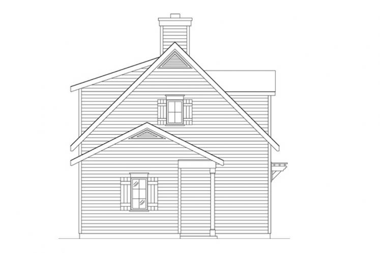 Cottage House Plan -  43038 - Left Exterior