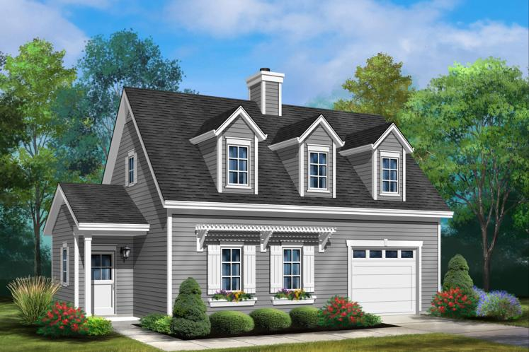 Cottage House Plan -  43038 - Front Exterior