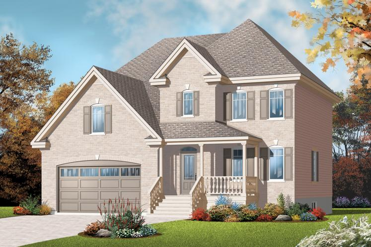 Country House Plan - Kensington 43074 - Front Exterior
